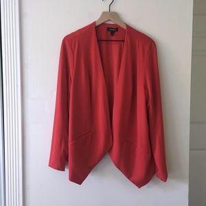 Torrid Red open light blazer jacket size 2